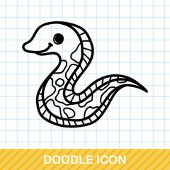 sea animal Eel doodle