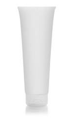 Cosmetics tube isolated on white
