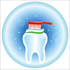 Dental care symbol icon. Hygiene and care of teeth.