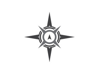 Grayscale Compass Guide Directions