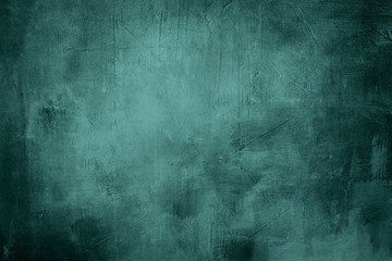 blue grunge background or texture with dark vignette borders and
