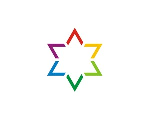 Colorful Judaism Star