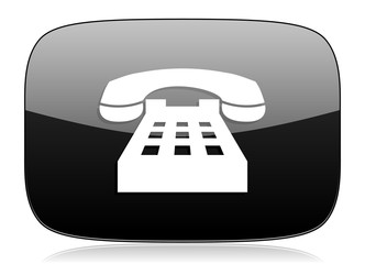 phone black glossy web modern icon