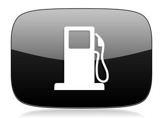 petrol black glossy web modern icon