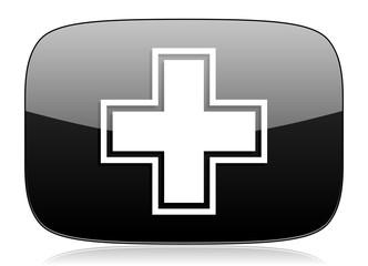pharmacy black glossy web modern icon