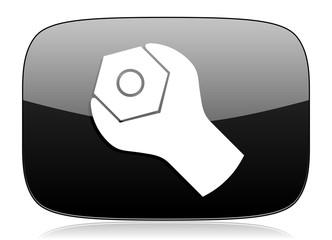 tools black glossy web modern icon
