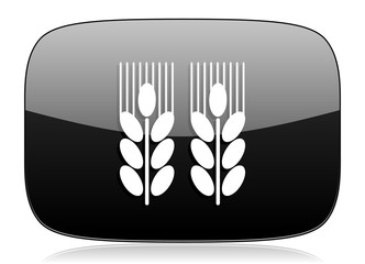 agricultural black glossy web modern icon
