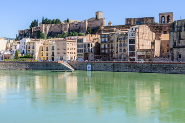 View of Tortosa from the Ebro river, Spain