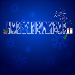 abstract new year  blue vector background