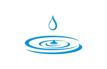 water droplets logo