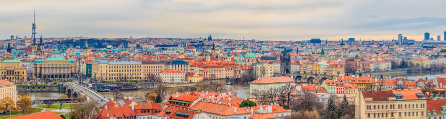 Foto op Canvas Oost Europa Traditional red roofs in old town of Prague