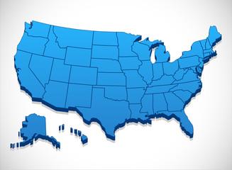 United States of America Map  Fototapete
