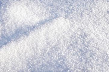 fluffy snow closeup