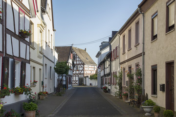 Stadtansicht von Unkel am Rhein, Deutschland