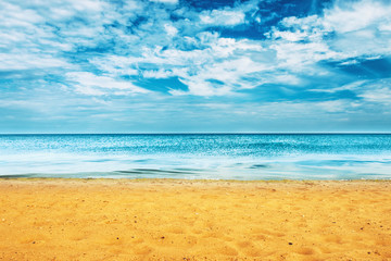 Beautiful summer sea and golden sand beach
