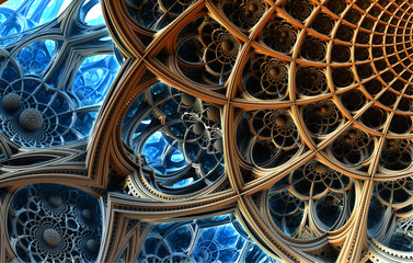 Abstract background, fantastic 3D  structures.
