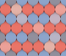 Seamless pattern of interwoven yarn.  Rose Quartz and Serenity color. Can be used as wallpaper, wrapping, invitation cover