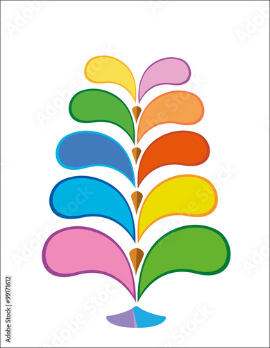 Infographic Design Of Colorful Tree Tree Template Logo Multicolor