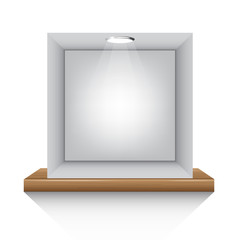 grey box and lights on shelf on white background isolate vector illustration eps 10