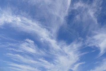 cloudscape and blue sky