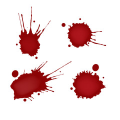 Realistic blood splatters