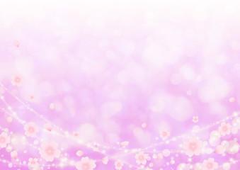 桜舞う背景 ピンク