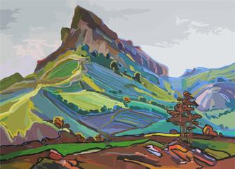 Foto op Plexiglas Art Studio Mountain