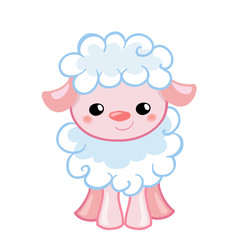 easterVector Illustration cute lamb in the style cartoon. characters