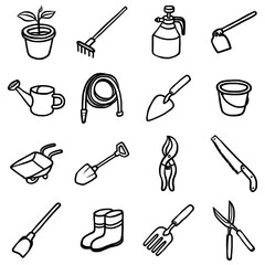 objects or icons set/ cartoon vector and illustration, hand drawn style, isolated on white background.