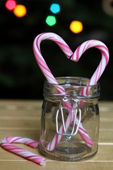 Sweet love / Tasty lollipops ( chrisrmas candies ) in a glas jar