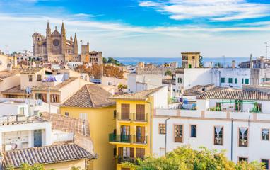 Ansicht Palma Mallorca Altstadt Kathedrale