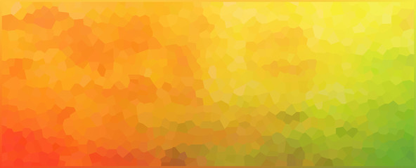vector illustration - abstract polygon multicolored picture
