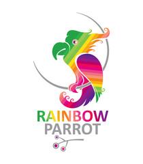 Rainbow Parrot lap - design template.