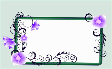 flower frame green