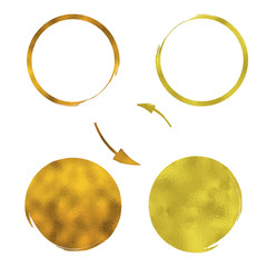 Gold Circles Pattern - Vector Shapes