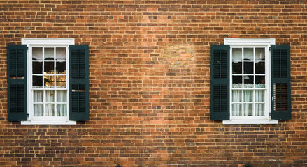 Brick Wall and Windows for Background
