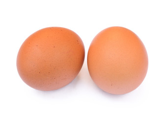 two eggs on an isolated background