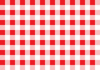 Custom vertical slats with your photo Seamless picnic pattern