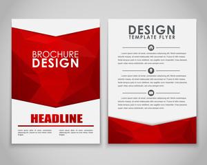 Design brochures polygonal style