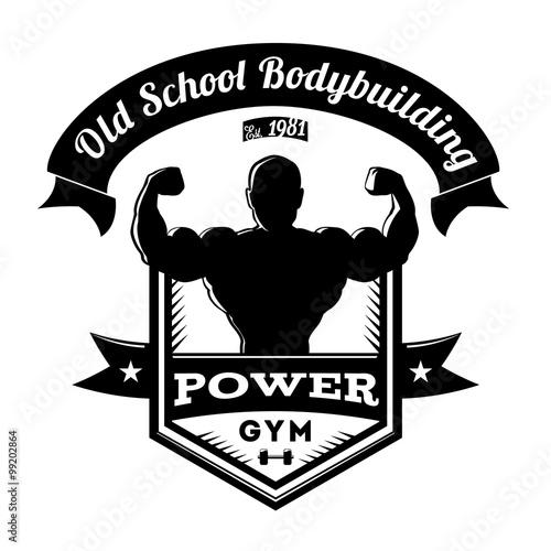 Old School Bodybuilding Gym Logo