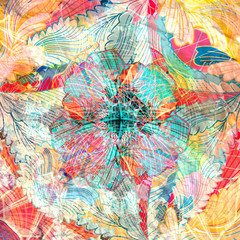 Abstract colorful watercolor
