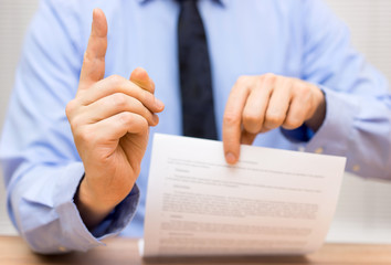 manager is angry at a colleague due to poor document and challen