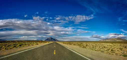 Road in the desert of Death Valley