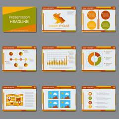 Professional business presentation, slide show, brochure, booklet, layout, poster vector template