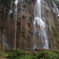 Beautiful waterfalls in mountains