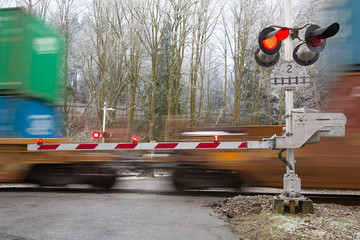 the image with crossing rail
