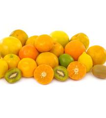 fresh healthy fruit on whit