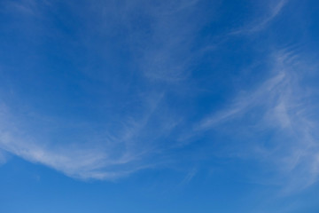 image blue color of clear blue sky background, purity air in the