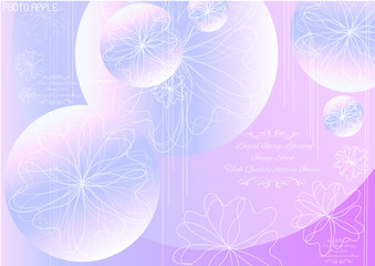 Abstract Flower Vector Background