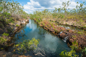 Giddy river in Gove Peninsula, Northern Territory, Australia.